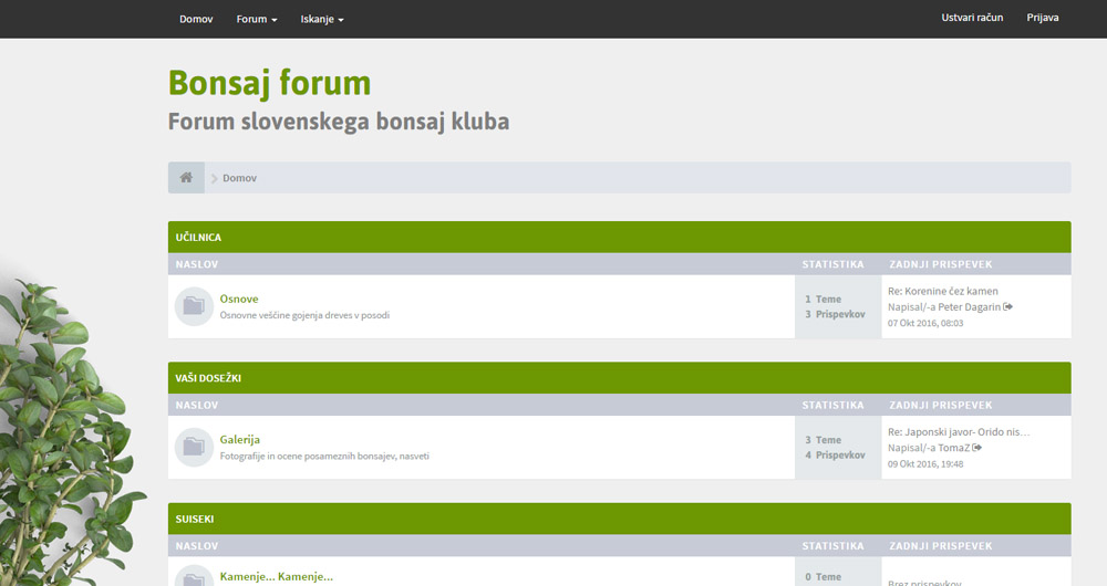 Bonsaj forum